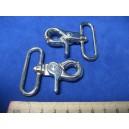 Karabińczyk metalowy 4cm - dzwignia /10szt/