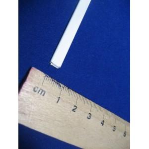 Firzbina metalowa płaska 6mm biała 50mb