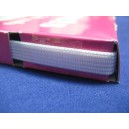 Firzbina tkana 8mm biała 50mb