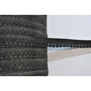 Gumokoronka 10 mm  /op. 25 mb./  czarna
