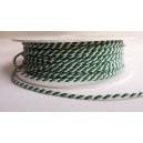 Sznur skręcany 2 mm /op.50 mb./     k.biało-zielony