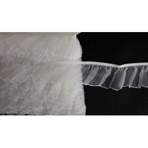 Guma z falbanką 42 mm  /op. 15 mb./  k.biały