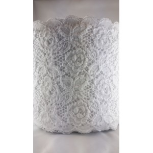 Koronka elastyczna szer.16,5 cm. /op.50mb./ k.biały