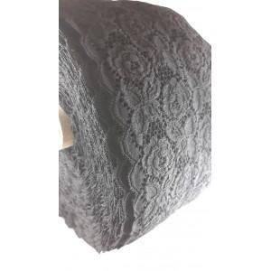 Koronka elastyczna szer.16,5 cm. /op.50mb./ k.czarny