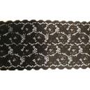 Koronka elastyczna szer.16,5 cm. /op. 1 mb./ k.czarny