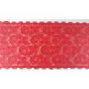 Koronka elastyczna szer.16,5 cm. /op. 1 mb./ k.czerwony