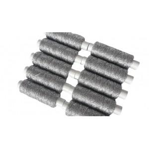 Sznurek metalizowany srebrny 1 mm   /op.10 szpulek./